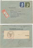 ALLEMAGNE ENV 1944 HANNOVER LETTRE RECOMMANDEE + CENSURE - Germania