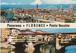 Tarjeta Postal. Italia. Firenze. Florencia. Panorama. Ponte Vecchio. Condición Media. Manchas. - Firenze (Florence)