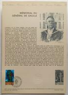 1941 Mémorial Du Général De Gaulle  Document Officiel De La Poste - Documenti Della Posta