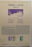 2634 Charles De Gaulle  Document Officiel De La Poste - Documenti Della Posta