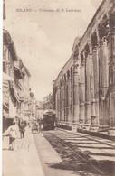 Lombardia  - Milano - Colonne Di S. Lorenzo - F. Piccolo - Viagg - Molto Bella Con Tram - Milano (Milan)