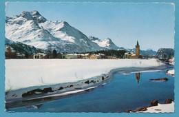 Sils-Baselgia Und Piz Della Margna Unter Dem Schnee - Gelauft 1962 - GR Grisons