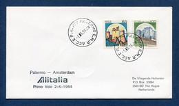 Italie - Premier Vol - Palermo - Amsterdam - Alitalia - 1984 - Vliegtuigen