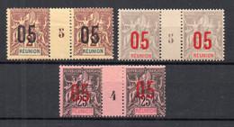 !!! PRIX FIXE : REUNION, N°72, 73 Et 75 EN PAIRES AVEC MILLESIMES NEUVES * - Reunion Island (1852-1975)