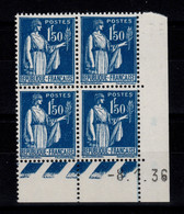 Coin Daté YV 288 N** Type Paix Du 8.1.36 - 1930-1939