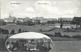 Luxembourg - Luxemburg  -  REDINGEN  -  TEILANSICHTEN  -  Rix & Frank , Photos , Bettborn  -  2 Scans - Postales