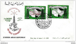 "136 - 18 - Enveloppe 1er Jour ""2nd Conference Damascus 1959"" - Siria"