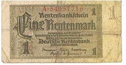 ALLEMAGNE    BILLETDE 1 REICHSMARK   1937  N° A.54957716       BI25 - Sonstige