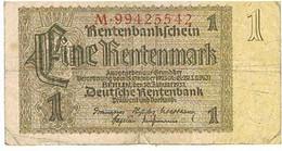 ALLEMAGNE    BILLETDE 1 REICHSMARK   1937  N° M.99425542                                BI26 - Otros