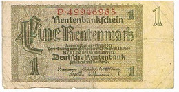 ALLEMAGNE    BILLET  DE 1 REICHSMARK   1937  N° P .49946965                                BI27 - Otros
