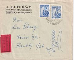 AUTRICHE 1958 LETTRE EXPRES DE ST.JOHANN IN TIROL - 1945-60 Storia Postale