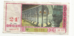 JC , Billet De Loterie Nationale, 24 E, Groupe 6 , Vingt-quatrième Tranche  1960, 26 NF, Le Granit - Lottery Tickets