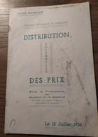Distribution Solennelle Des Prix_13 Juillet 1956_Guinée Française_Collège Technique De Garçons. - Books, Magazines, Comics