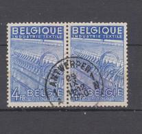COB 771 En Paire Oblitération Centrale ANTWERPEN - 1948 Export