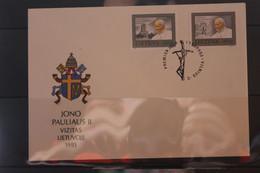 Lietuva; Papst Johannes Paul II., 1993,  Auf FDC - Lithuania