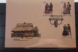 Lietuva; Trachten, 1993, MiNr. 537-39 Auf FDC - Lituania