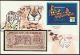 Geldschein Banknote Banknotenbrief Mosambik Mozambique Schein + Briefmarken  - Banknoten
