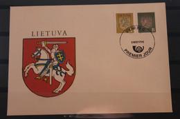 Lietuva; Freimarken Wappen, 1993, MiNr. 531-32 Auf FDC - Lituania