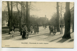 SUISSE NEUFCHATEL Landaux Poussette Promenade Du Jardin Anglais 1900 Dos Non Divisé D02 2018 - NE Neuchâtel