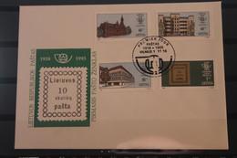 Lietuva; 75 Jahre Litauen, 1993, MiNr. 540-43 Auf FDC - Lituania