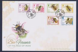 Isle Of Man FDC 2012 Bee Fauna Of The Isle Of Man  (LD4) - Abeilles