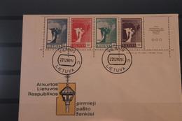 Lietuva; Friedensengel, Ungezähnt, 1990, MiNr. 457-60 Auf FDC - Lituania