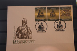 Lietuva; Gediminas, 1991, MiNr. 486-88 Auf FDC - Lituania