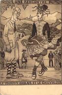 64 - Au Pays Basque - Une Rencontre Pendant Une Pastorale Basque Le Touriste Anglais Et Le Chevalier (Jacques Le Tanneur - Francia