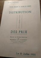 Distribution Solennelle Des Prix_10 Juillet 1955_Guinée Française_Collège Moderne De Garçons De Conakry. - Books, Magazines, Comics