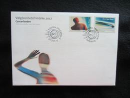 Sweden FDC 2012 Välgörenhetsfrimärket 2012 - Cancerfonden (FDC 6) - FDC