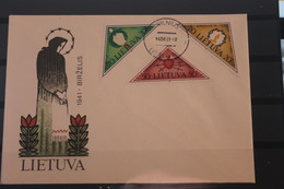 Lietuva; Birzelis 1941, 1991, MiNr. 477-79 Auf FDC - Lituania