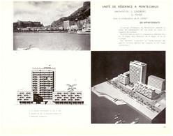 1955 - Documentation - Monaco - Unité De Résidence à Monte-Carlo - PRÉVOIR FRAIS DE PORT - Unclassified