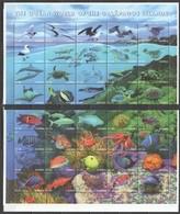 SS926 GAMBIA FAUNA FISH & MARINE LIFE OF GALAPAGOS #3295-35 MICHEL BIG FOLDED SH MNH - Vita Acquatica