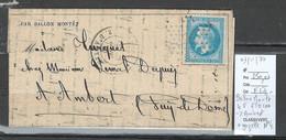France  BALLON MONTE - 03/11/1870 - LE FERDINAND FLOCON + Gazette No 4 Pour Ambert - Puy De Dome - 1870 Siege Of Paris