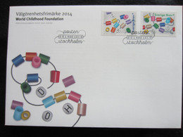 Sweden FDC 2014 Välgörenhetsfrimärke 2014 - World Childhood Foundation  (FDC 6) - FDC