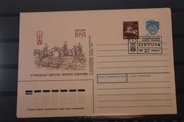 Lietuva; Sporto, 1991, Auf FDC-Ganzsache - Lithuania