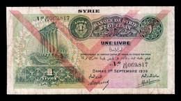 Siria Syria 1 Livre 1939 Pick 40e BC F - Siria