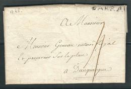 FRANCE 1746 Marque Postale Taxée De Arras (darras) - 1701-1800: Voorlopers XVIII