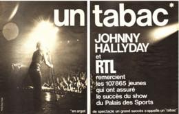 "PUB CONCERT "" "" JOHNNY HALLYDAY "" PALAIS DES SPORTS 1971 ( 1 ) - Music & Instruments"