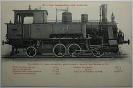 LOCOMOTIVES ETAT BAVAROIS Locomotive à 6 Roues Accouplées Pour Le Service De Gare - Treinen