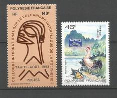 Timbre De Polynésie Française Neuf ** N 438/439 - Neufs