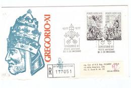 POSTE VATICANE - FDC VENETIA - 1977 - RITORNO DI GREGORIO XI DA AVIGNONE A ROMA - RACC N° 117051 - - FDC