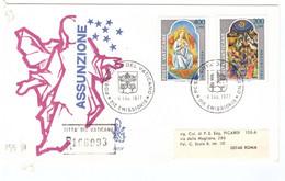 1POSTE VATICANE - FDC VENETIA - 1977 - ASSUNZIONE IN CIELO DI MARIA - RACC N°166993  - - FDC