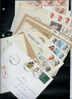Docs . De CINEY  Soit 17 Enveloppes En Recommandé - Postmark Collection