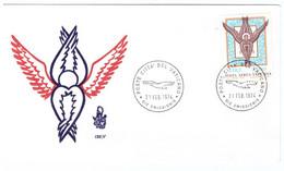 1POSTE VATICANE - FDC VENETIA - 1974 - ANGELO -  POSTA AEREA - - FDC
