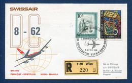 Autriche - Premier Vol - Wien - Manila - Swissair - 1974 - Airplanes