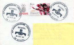 BT Sospel - 28 Cotobre 1984 - 40e Anniversaire De La Libération - R 5959 - WW2 (II Guerra Mundial)