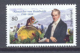 Año 2019 Nº 3271 Aniv. Alexander Von Humboldt - Unused Stamps