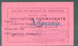 Trouville (14 Calvados) Invitation Permanente PISCINE OLYMPIQUE 1954 (PPP23894) - Tickets - Vouchers