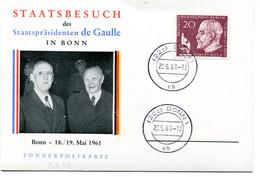 Thème Général De Gaulle - Visite à Bonn 18 & 19 Mai 1961 - R 5962 - De Gaulle (Generaal)